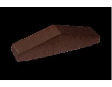 Профильный кирпич двухскатный большой полнотелый Коричневая глазурь, King Klinker