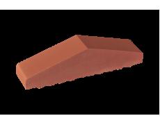 Профильный кирпич двухскатный большой полнотелый Рубиновый, King Klinker