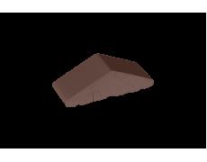 Профильный кирпич двухскатный высокий малый полнотелый Коричневый, King Klinker