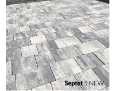 Тротуарная плитка бетонная Septet 5 меланж , Польша
