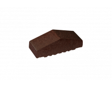Профильный кирпич двухскатный малый полнотелый Коричневая глазурь, King Klinker