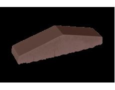 Профильный кирпич двухскатный большой полнотелый Коричневый, King Klinker