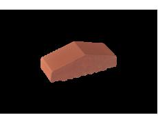 Профильный кирпич двухскатный малый полнотелый Рубиновый, King Klinker
