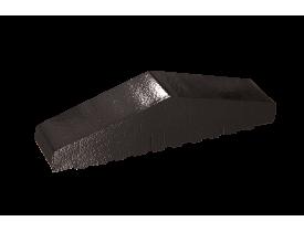 Профильный кирпич двухскатный большой полнотелый Черный оникс, King Klinker