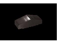 Профильный кирпич двухскатный малый полнотелый Черный оникс, King Klinker
