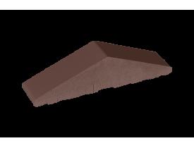 Профильный кирпич двухскатный высокий большой полнотелый Коричневый, King Klinker