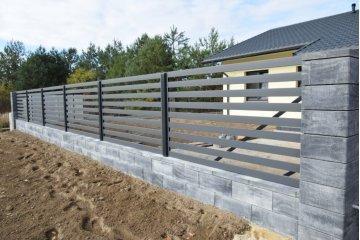 Польский бетонный  забор  5