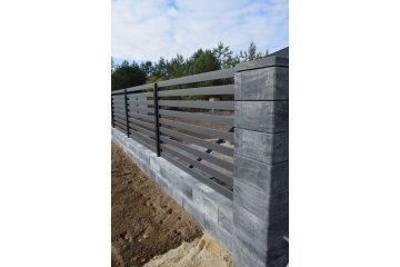 Польский бетонный  забор  3