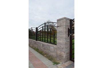 Польский бетонный  забор  4