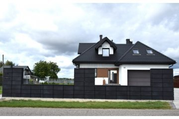 Польский бетонный  забор  1
