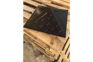 Колпак полимеркомпозитный с посадкой 390х390, коричневый 4